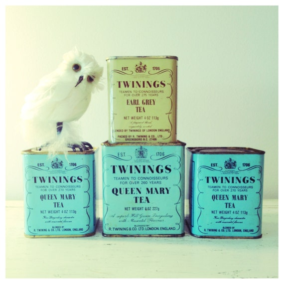 Sale Vintage Twinings Tea Tins Aqua Twinings Tea Tin Mint