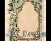 Instant Digital Download, Victorian Era Graphic, Decorative Floral Frame, Printable Image, Scrapbook