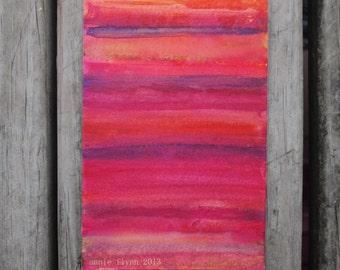 "Archval Print of Original Watercolor ""Hot Summer Night"""