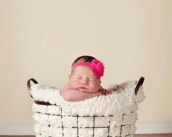 Newborn Headband Baby Headband Kids Headband Toddler Headband Infant Headband Shabby Flower Headband