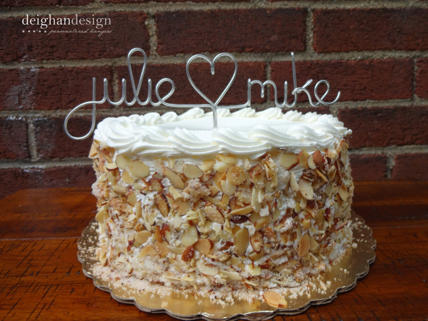 Custom Cake Topper Wedding Cake Topper Wire Names by ...