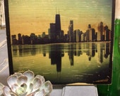 Chicago Skyline on Wood