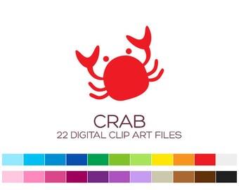 Crab clip art | Etsy