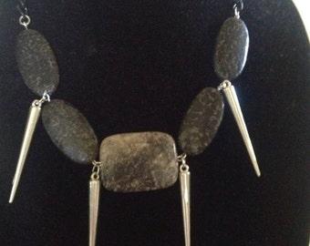 Black Jasper Stone Necklace