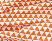 Mini Triangles Cotton Fabric - Orange - By the Yard 38844