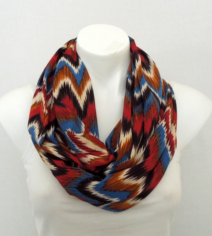 chevron infinity scarf jersey eternity scarf by