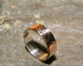 Copper and Silver Mocume Gane Ring