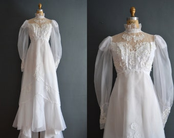 Popular items for 70s wedding dress on etsy for 1970s wedding dresses for sale