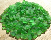 Tiny Sea Glass Small Beach Glass Bulk Kelly Green