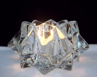 Crystal Snowflake Candle Holder