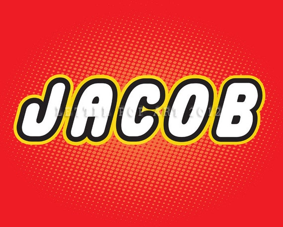 Jacob Using Lego Letters 8 5 X 11 Landscape