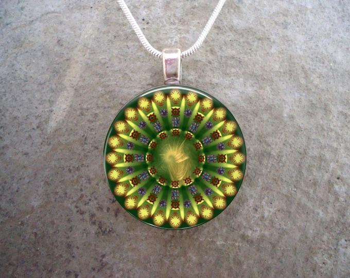 Mandala Jewelry - Glass Pendant Necklace - Mandala 29 - RETIRING 2017