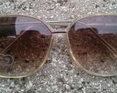 Square Beige Mod Sunglasses