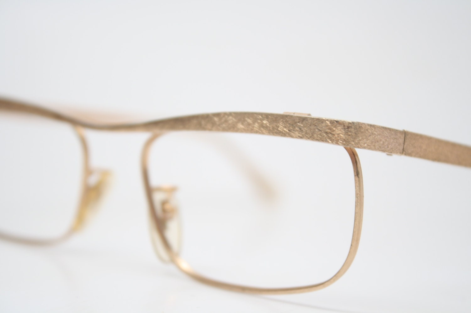 Antique Glasses Frames Unique shaped Small 1/20 10k Gold