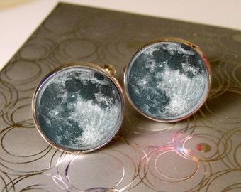 Mens Cufflinks, Moon Cufflinks, Solar System Cufflinks, Mens Space Jewelry