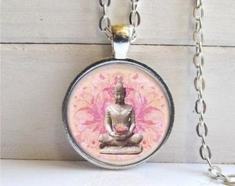 Buddha Necklace, Buddha Pendant, Buddha Jewelry, Inspirational Jewelry