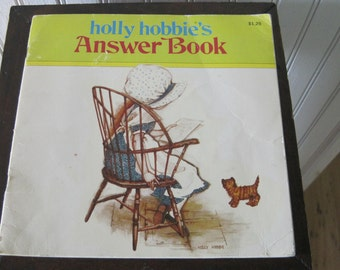 Vintage Holly Hobbie's Answer Book, 1978
