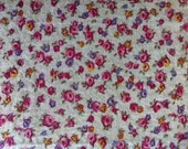 Calico small floral on off white  has been washed