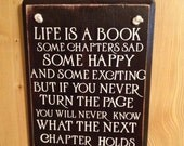 Life is Like a Book Plaque
