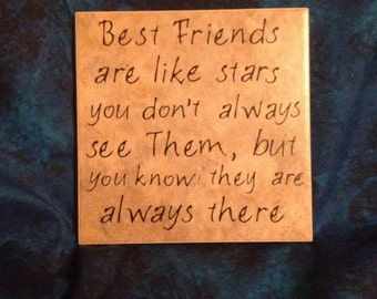 Best Friends and Stars Tile