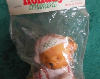 1989 Gas Premium Bear Ornament