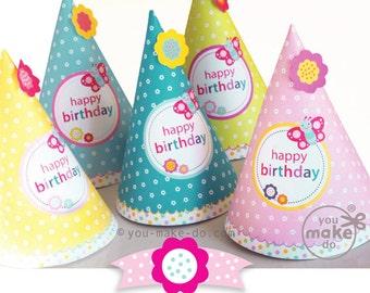Girl birthday hat   Etsy