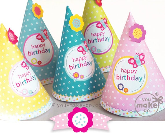 party hats girl birthday hat girl party hat birthday hats