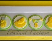 Lemonade Themed Cupcake Toppers