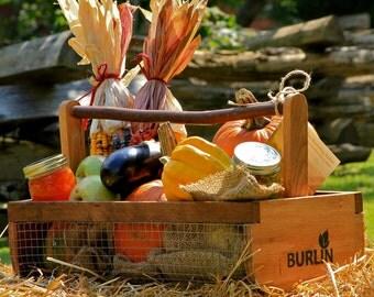 Garden Basket-Garden Harvesting Basket Vegetable Basket,Hod,Picnic Basket, Storage Basket,Large