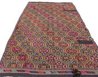 "Vintage Handwoven Wool Rug - Handmade Turkish Decorative Kilim Rug - 67""X120,5"" - Bohemian Home Decor - Antique Kilim Rug - Riot of Colors"