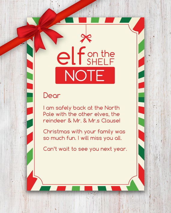 Elf On Shelf Printable Letter For Bad Behavior | Share The Knownledge