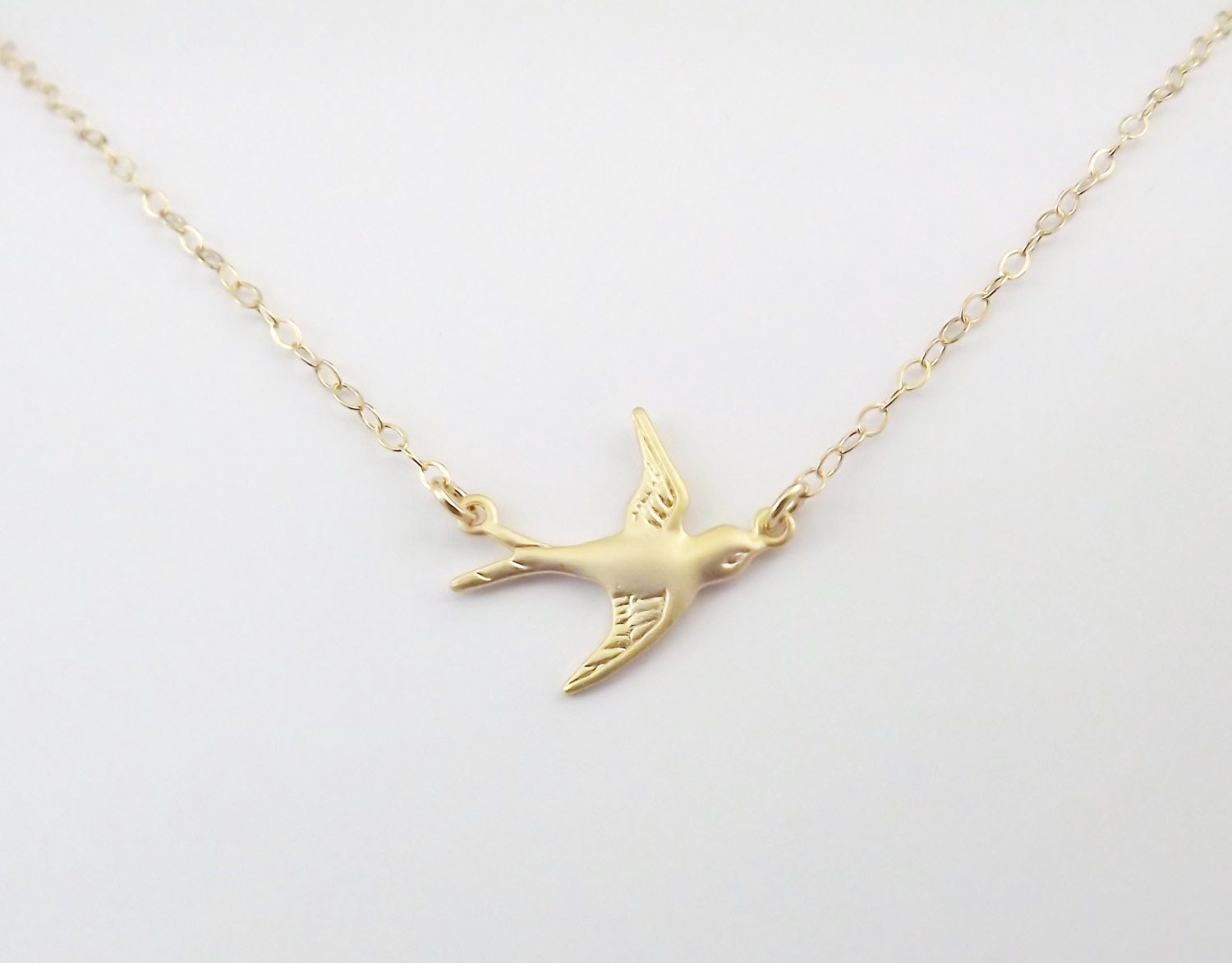 gold bird necklace gold sparrow