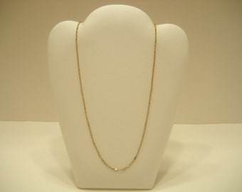"17"" GOLD TONE LINK Necklace (0298) Sarah Coventry"