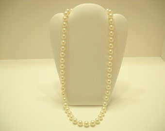 """10mm, 24"""" Faux Pearl Necklace (2068)"""