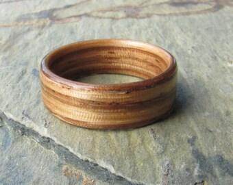 Zebrawood Bentwood Ring