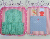 Pet Parade Travel Case, Child's Doll Carrier,  Storage Case for a 12'' Doll Overnighter
