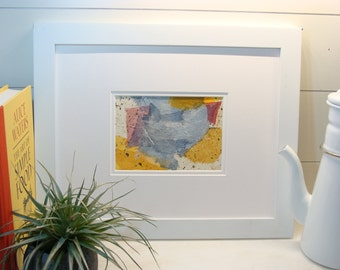 Small affordable collage contemporary art, OOAK.  #2.  Original art for home decor, office decor