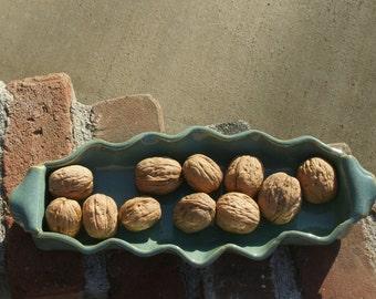 Green Relish Dish, Candy Dish, Serving Dish - Handmade, stoneware pottery