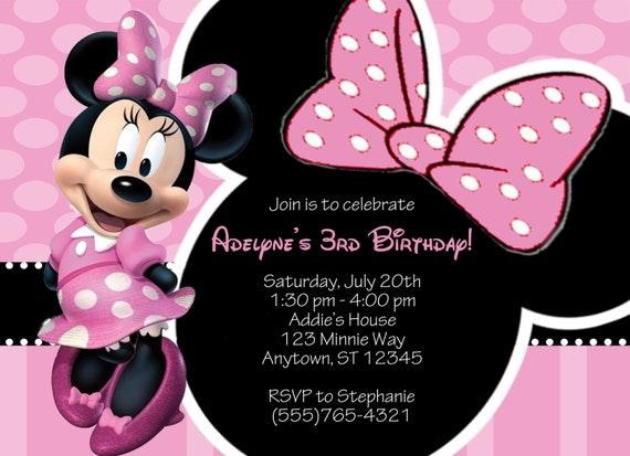 Invitación Minnie - Imagui