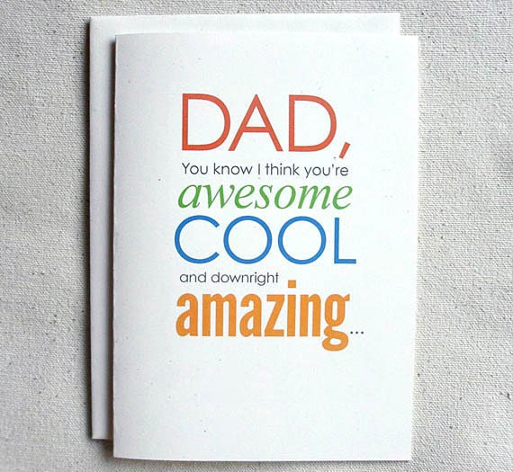 Father Birthday Card Funny Dad You know I think youre – Birthday Cards Father