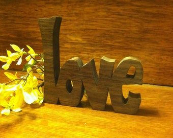 "Inspirational wooden words ""LOVE"""