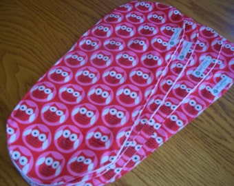 BABY BURP CLOTHS - Pink and Red Owls