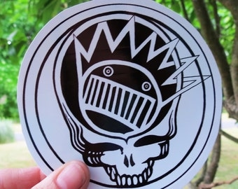 Steal Your Face Boognish Grateful Dead Ween Black and White Series High Quality Vinyl Sticker
