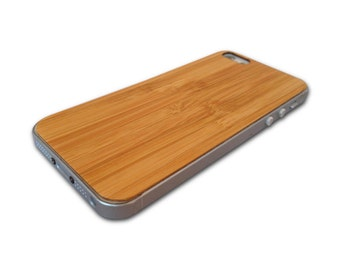 Bamboo iPhone 5/5s Wood Skin, Wooden back for iPhone 5/5s