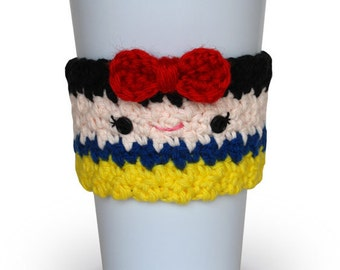Crochet Snow White Coffee Cup Cozy