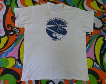 vintage 1975 - 1976 POP CONCERTS T-shirt 70s shirt stedman tag hippie classic rock vintage concert