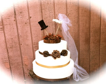 Fall Wedding Cake Topper