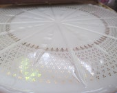 Anchor Glass Ivory White Cake Plate