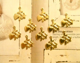 10 Goldplated Jesus is My Anchor Charms