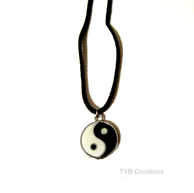 yin yang necklace yin yang pendant jewelry by
